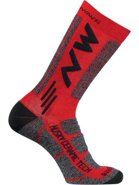 Northwave Husky Ceramic Tech 2 High Socks red